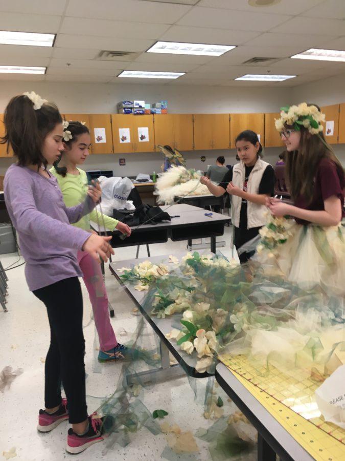 Students doing costume design