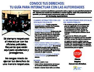 Conoce Tus Derechos-Interactuar con las Autoridades