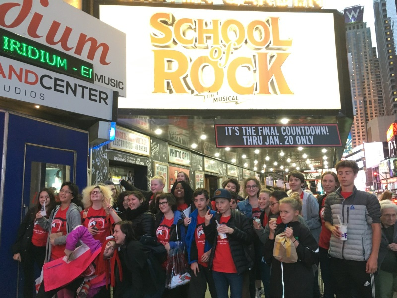 Swanson Students at School of Rock trip