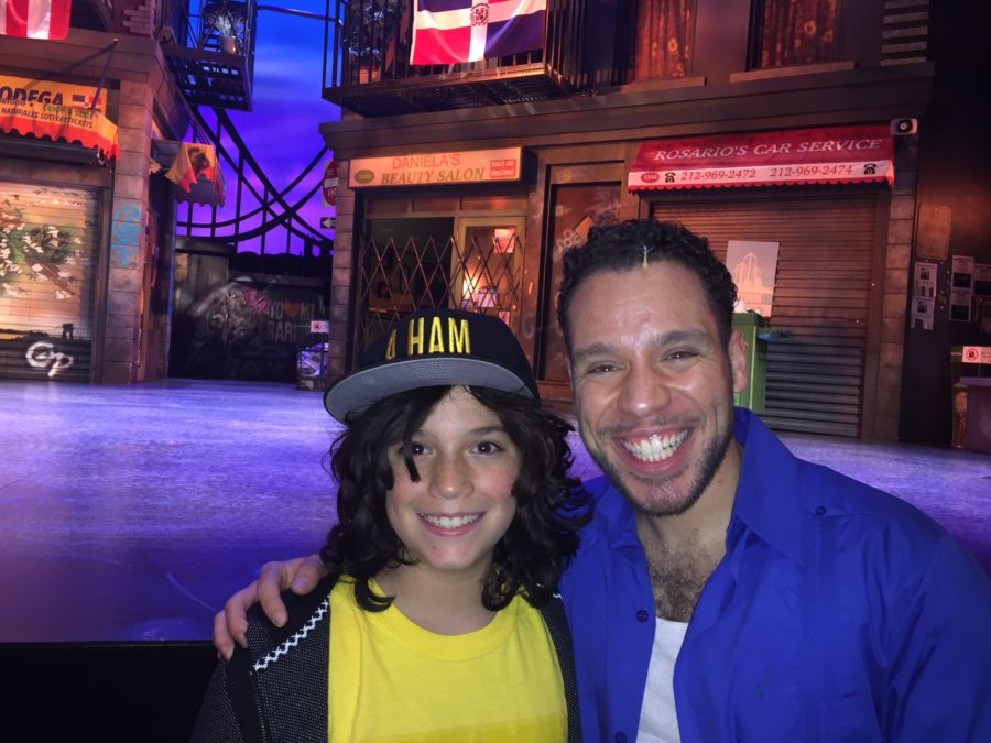 Swanson Student with Cast member from in the Heights