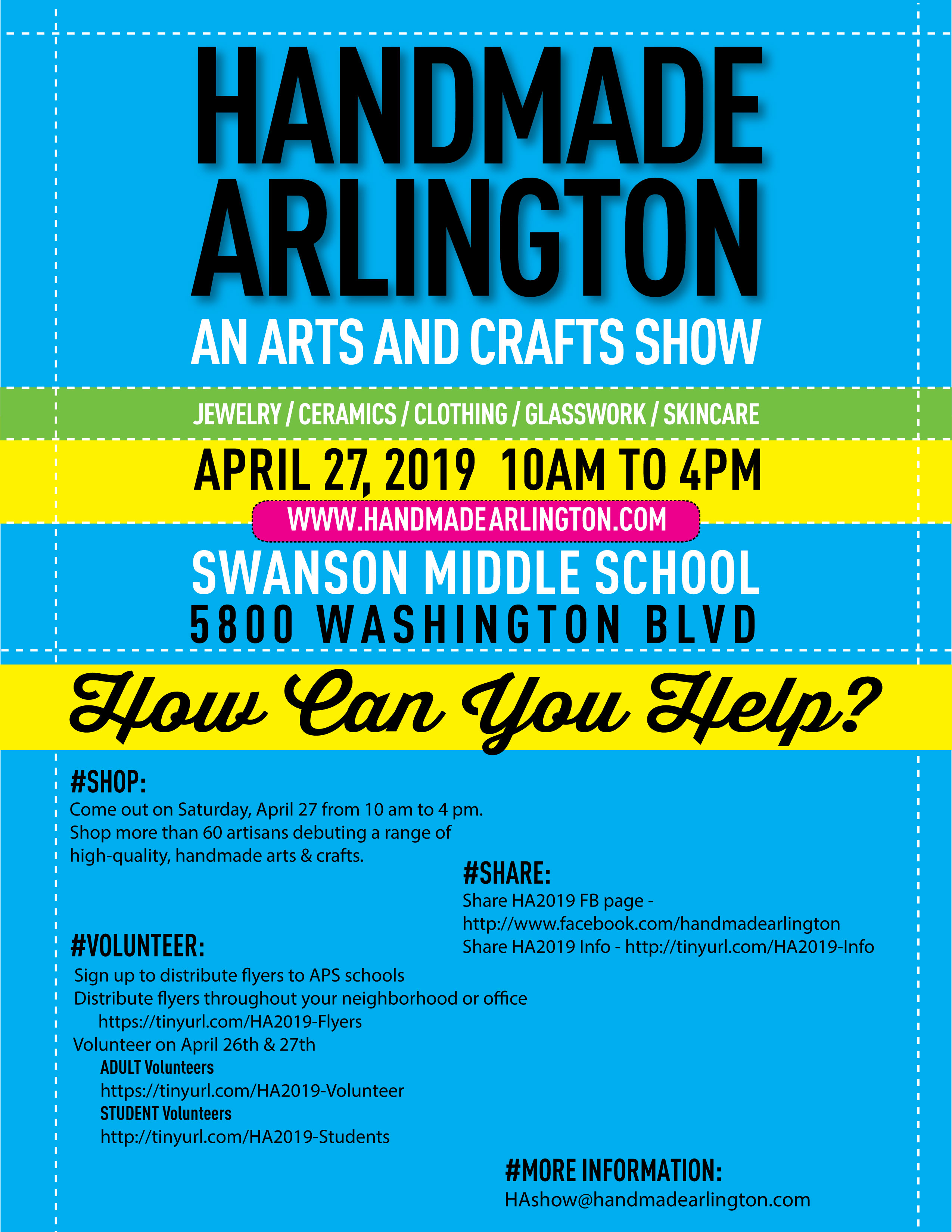 Handmade Arlington How You Can Help