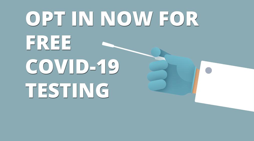 Melden Sie sich jetzt für COVID-19-Tests an